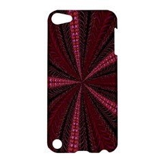 Red Ribbon Effect Newtonian Fractal Apple Ipod Touch 5 Hardshell Case
