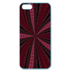 Red Ribbon Effect Newtonian Fractal Apple Seamless iPhone 5 Case (Color)