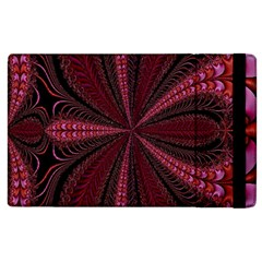 Red Ribbon Effect Newtonian Fractal Apple iPad 3/4 Flip Case