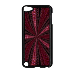 Red Ribbon Effect Newtonian Fractal Apple iPod Touch 5 Case (Black)