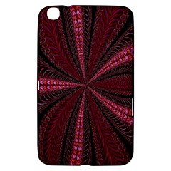 Red Ribbon Effect Newtonian Fractal Samsung Galaxy Tab 3 (8 ) T3100 Hardshell Case