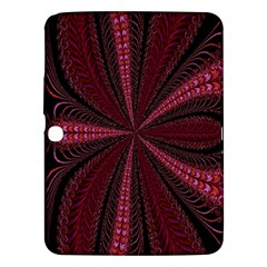 Red Ribbon Effect Newtonian Fractal Samsung Galaxy Tab 3 (10.1 ) P5200 Hardshell Case