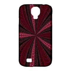 Red Ribbon Effect Newtonian Fractal Samsung Galaxy S4 Classic Hardshell Case (pc+silicone)