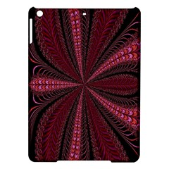 Red Ribbon Effect Newtonian Fractal iPad Air Hardshell Cases