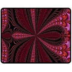 Red Ribbon Effect Newtonian Fractal Double Sided Fleece Blanket (Medium)