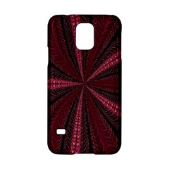 Red Ribbon Effect Newtonian Fractal Samsung Galaxy S5 Hardshell Case