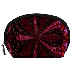 Red Ribbon Effect Newtonian Fractal Accessory Pouches (Large)