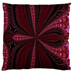 Red Ribbon Effect Newtonian Fractal Standard Flano Cushion Case (Two Sides)