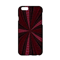 Red Ribbon Effect Newtonian Fractal Apple iPhone 6/6S Hardshell Case