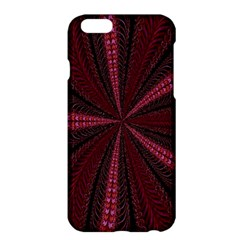 Red Ribbon Effect Newtonian Fractal Apple iPhone 6 Plus/6S Plus Hardshell Case