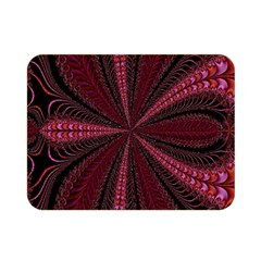 Red Ribbon Effect Newtonian Fractal Double Sided Flano Blanket (mini)