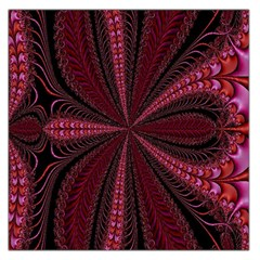 Red Ribbon Effect Newtonian Fractal Large Satin Scarf (Square)