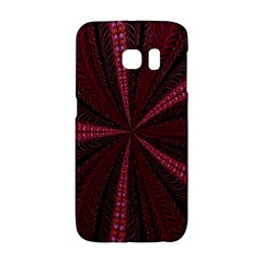 Red Ribbon Effect Newtonian Fractal Galaxy S6 Edge