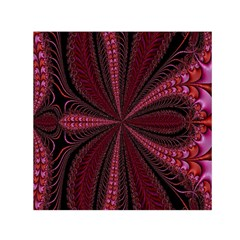 Red Ribbon Effect Newtonian Fractal Small Satin Scarf (Square)