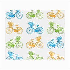 Vintage Bikes With Basket Of Flowers Colorful Wallpaper Background Illustration Small Glasses Cloth