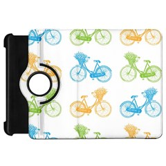 Vintage Bikes With Basket Of Flowers Colorful Wallpaper Background Illustration Kindle Fire HD 7