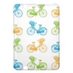 Vintage Bikes With Basket Of Flowers Colorful Wallpaper Background Illustration Kindle Fire Hd 8 9