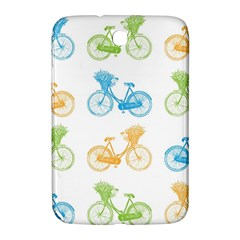 Vintage Bikes With Basket Of Flowers Colorful Wallpaper Background Illustration Samsung Galaxy Note 8 0 N5100 Hardshell Case