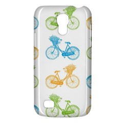 Vintage Bikes With Basket Of Flowers Colorful Wallpaper Background Illustration Galaxy S4 Mini