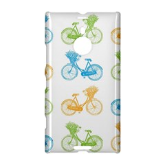 Vintage Bikes With Basket Of Flowers Colorful Wallpaper Background Illustration Nokia Lumia 1520
