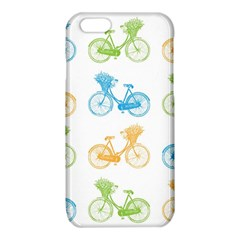 Vintage Bikes With Basket Of Flowers Colorful Wallpaper Background Illustration iPhone 6/6S TPU Case