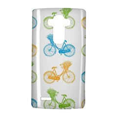 Vintage Bikes With Basket Of Flowers Colorful Wallpaper Background Illustration Lg G4 Hardshell Case
