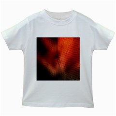 Background Technical Design With Orange Colors And Details Kids White T-Shirts