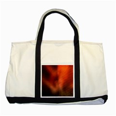 Background Technical Design With Orange Colors And Details Two Tone Tote Bag