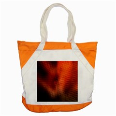 Background Technical Design With Orange Colors And Details Accent Tote Bag