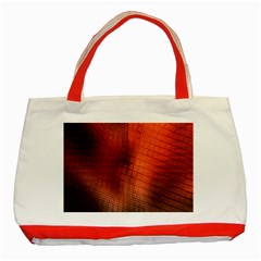 Background Technical Design With Orange Colors And Details Classic Tote Bag (red)