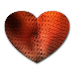 Background Technical Design With Orange Colors And Details Heart Mousepads