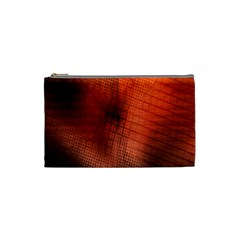 Background Technical Design With Orange Colors And Details Cosmetic Bag (Small)