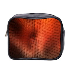Background Technical Design With Orange Colors And Details Mini Toiletries Bag 2 Side
