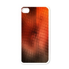 Background Technical Design With Orange Colors And Details Apple Iphone 4 Case (white)