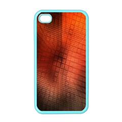 Background Technical Design With Orange Colors And Details Apple Iphone 4 Case (color)