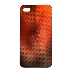 Background Technical Design With Orange Colors And Details Apple iPhone 4/4s Seamless Case (Black)