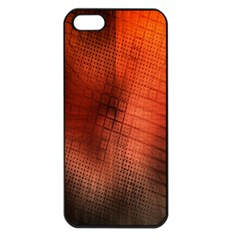 Background Technical Design With Orange Colors And Details Apple Iphone 5 Seamless Case (black)