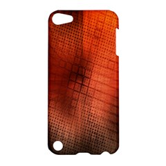 Background Technical Design With Orange Colors And Details Apple iPod Touch 5 Hardshell Case