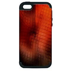 Background Technical Design With Orange Colors And Details Apple iPhone 5 Hardshell Case (PC+Silicone)