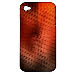 Background Technical Design With Orange Colors And Details Apple iPhone 4/4S Hardshell Case (PC+Silicone)