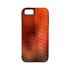 Background Technical Design With Orange Colors And Details Apple Iphone 5 Classic Hardshell Case (pc+silicone)