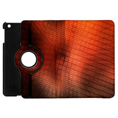 Background Technical Design With Orange Colors And Details Apple iPad Mini Flip 360 Case