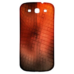Background Technical Design With Orange Colors And Details Samsung Galaxy S3 S III Classic Hardshell Back Case