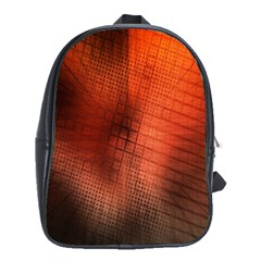 Background Technical Design With Orange Colors And Details School Bags (XL)