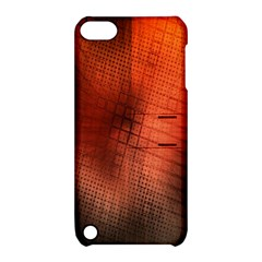 Background Technical Design With Orange Colors And Details Apple iPod Touch 5 Hardshell Case with Stand