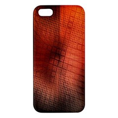 Background Technical Design With Orange Colors And Details Apple iPhone 5 Premium Hardshell Case