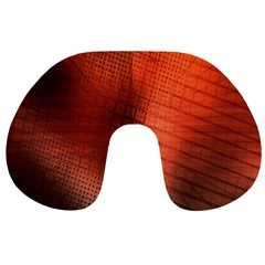 Background Technical Design With Orange Colors And Details Travel Neck Pillows