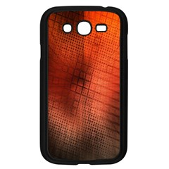 Background Technical Design With Orange Colors And Details Samsung Galaxy Grand Duos I9082 Case (black)