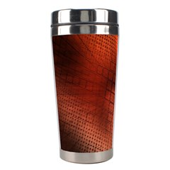 Background Technical Design With Orange Colors And Details Stainless Steel Travel Tumblers