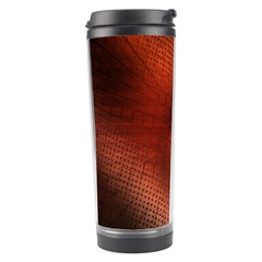 Background Technical Design With Orange Colors And Details Travel Tumbler